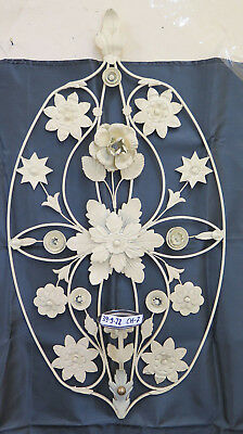 Wall Vintage Style Floral Wrought Iron Hand Made half '900 CH-7
