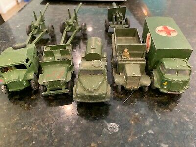 Military Car Lot >> Dinky Toy Car Lot 5 Military Lot Cars Antique Tootsie