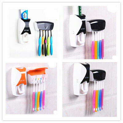 Automatic Squeezer for Toothpaste Dispenser Device Belt Home Toothbrush Holder