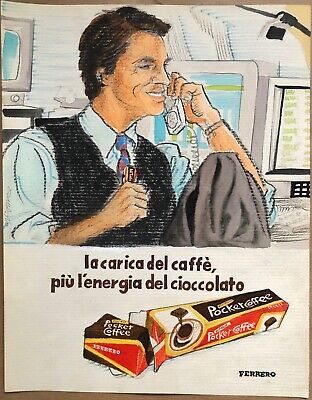 "BOZZETTO ORIGINALE PUBBLICITARIO ""FERRERO""-Pocket Coffee / Designer:Amadio-"