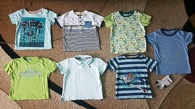 Lot of 8 Baby Toddler Boy T-shirts Uniqlo,Janie& Jack,H&M Size 2-3T