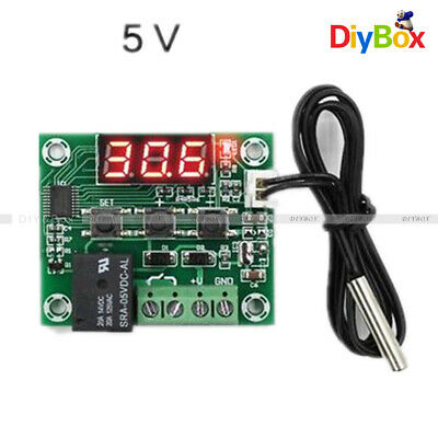 W1209 Red LED DC 5V Thermostat Temperature Switch Thermometer Controller Cable