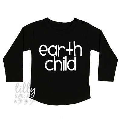 Earth Child Unisex Child's Long Sleeve T-Shirt, Environment, Planet, Kindness