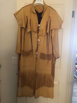 Fabulous Mens custom made Deer skin coat size medium/large