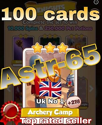 Coin Master Cards Pack Of 10 Armstrong Fast Delivery