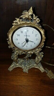 Matson Electric Clock Birds, Fully tested and works! Mantle-Study Good condition