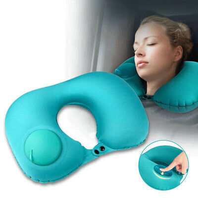Portable Self Inflatable U-Shaped Air Pillow Ultralight Relax Cushion Travel Bed