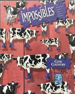 Cow Country Impossibles Borderless Puzzle 750 PLUS 5 Extra Pieces Hidden Images