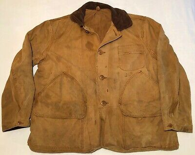Mens VTG 1940s-50s AMERICAN OUTFITTERS Upland Game Canvas Hunting Jacket! Lg-XL