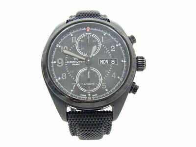 Khaki Day Aviation Hamilton Date H717260 Chronograph Excellent 9ED2IH