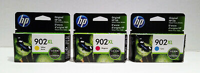 Brand New Genuine Hp 902XL ink cartridge Yellow Cyan Magenta Retail package