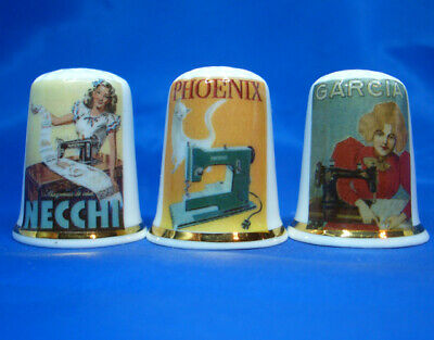Vintage Advertising Posters Birchcroft Thimbles Set of Three Milk