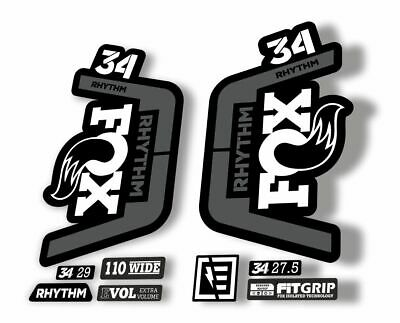 FOX 34 Evolution Talas Forks Suspension Factory Decal Kit Sticker Adhesive Red