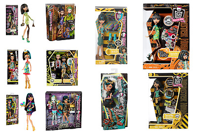 New - Official Monster High Dolls - Cleo De Nile All Series - Brand Unopened