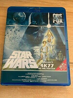 STAR WARS 4K77 1080p with DNR Full Bluray and Star Wars Holiday Specail dvd  uk
