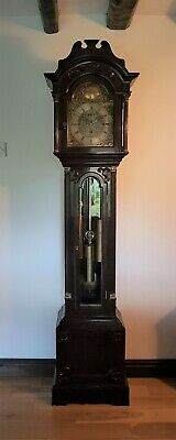 A fine quality five tube musical longcase clock by Lawley, Birmingham c1900