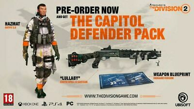 The Division 2 - Capitol Defender Pack PRE-ORDER DLC PlayStation 4 Xbox One PC