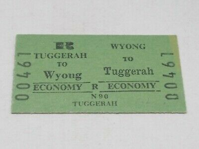 Nsw Railways Train Ticket Tuggarah To Wyong