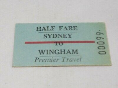 Nsw Railways Train Ticket Sydney To Wingham
