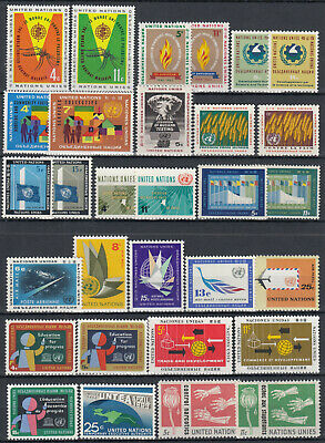UN 1962 - 1964 New York ☀ United Nations collection ☀ 30v MNH/MLH