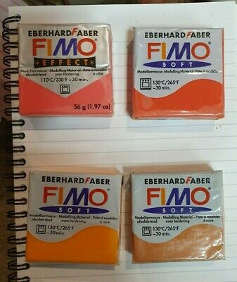 Fimo Modelling Clay, Multiple Colours,  Soft, Metallic, Glitter, 56gm Oven Dry