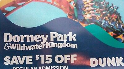 Dorney Park Wildwater Kingdom $15 off DISCOUNT Regular Admission $90 off for Six