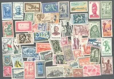 French Colonies before Independence 200 all different stamp collection