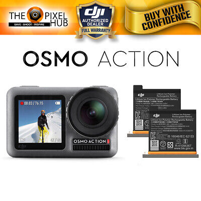 DJI Osmo Action 4K Camera Dual Screen with Genuine Extra DJI Osmo Battery Bundle