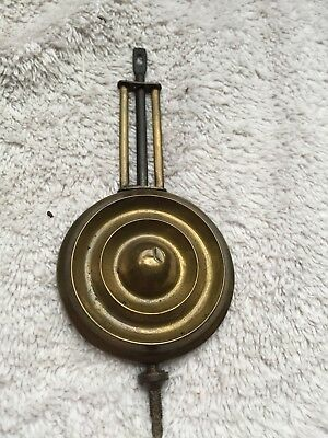 "Antique Brass Gingerbread Clock Pendulum 6.25"" Long"