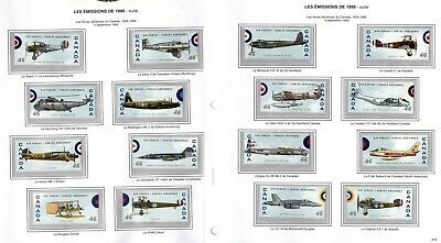 CANADA NO 1808a to 1808p Set,  CANADIAN AIR FORCES AIR  PLANES, MINT NH