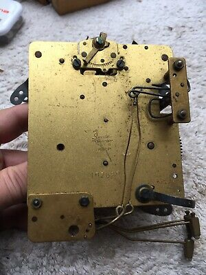 Vintage German Mantel Clock Movement For Restoration