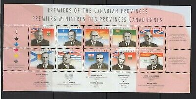 Canada No 1709,  Provincial Premiers Sheet, Mint Nh