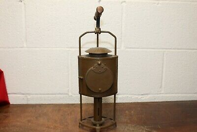 Rare Early Candle Lantern Wood Handle Moveable Candle