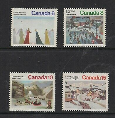 Canada No 650 To 653,  Christmas 1974: Paintings, Mint Nh