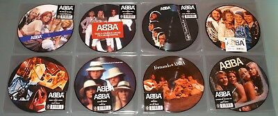 "ABBA 8x 7"" PICTURE DISC VINYL Lot QUEEN KNOWING MONEY FERNANDO WATERLOO CHANCE"