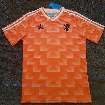Holland Netherlands 1988 Home Retro Football Shirt Vintage Soccer Jersey