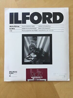 Ilford IV Resin B/W Enlarging Paper 8x10in, 25, Pearl #1171323