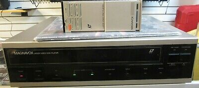 Magnavox VC8040GY01 Laser Disc Video Player Vintage 1984 Works w Remote & Disc