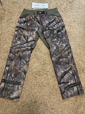 361a20a0c89e5 Under Armour Mossy Oak Scent Control Hunting Pants Front Pockets Worn Once