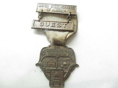 1956  of America Medal Badge 8th Convention Los angelas Guest