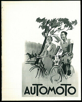 ORIGINAL Catalogue Cycles AUTOMOTO 1933 / 1934 Bicyclettes Vélos Tandem Brochure