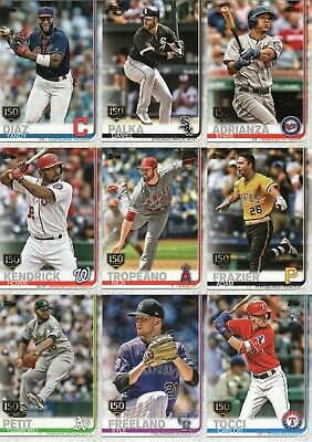 2019 Topps SERIES 2 150th GOLD STAMP CARDS YOU PICK COMPLETE YOUR SET