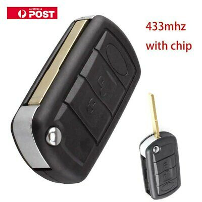 433Mhz Remote Flip Key Fob 3 Button For Land Rover Discovery 3 Range Rover Sport