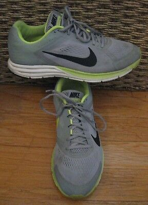 Details about Men's Nike Zoom Structure+ 15 Anthracite Lime Green Running 472566 003 sz 10 4E