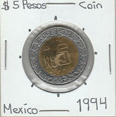 Mexico: $ 5 Pesos Coin Year 1994.