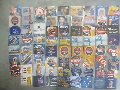71 different  TOOHEYS NEW / Brewery  Issued, BEER COASTERS  collectable