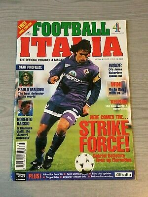 Football Italia September May 1996 Magazine Official Channel 4 Volume 2 Issue