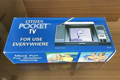Mint New Vintage Citizen Compact Pocket LCD TV Model  Portable Collectible Sony