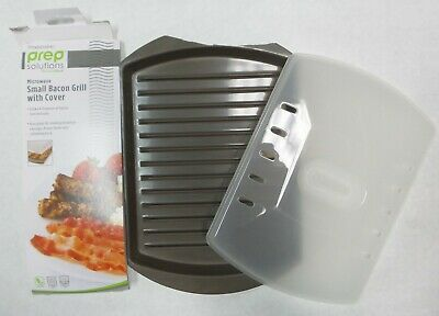 Progressive PS76LID Microwave Safe Small Bacon Cooker with Vented Lid - Brown
