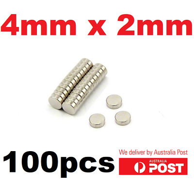 Super Strong Round Disc Magnets Rare-Earth Neodymium Magnet 4mm x 2mm - 100pcs